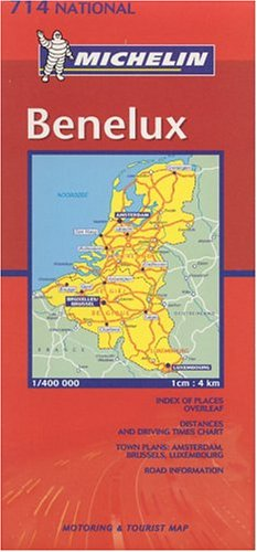 9782061006030: Michelin Benelux (Belgium, the Netherlands, Luxembourg) Map (Michelin Maps)