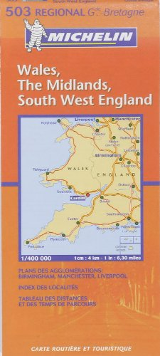 Michelin Map Great Britain: Wales, the Midlands,: Michelin