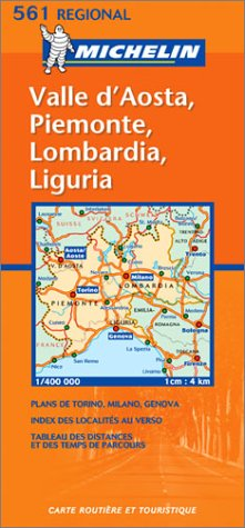 9782061007457: Italy North West - Lombardia/Piemonte/Valle D'Aosta/Lig Uria Map No. 561
