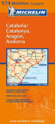 9782061007631: Michelin Map Spain North East: Aragon, Cataluna 574 (Maps/Regional (Michelin))