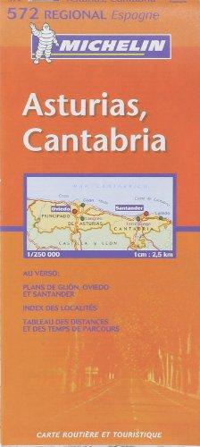 9782061007716: Michelin Map Spain Northwest: Asturias, Cantabria 572