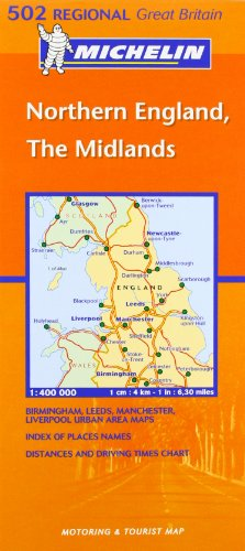 9782061007969: Midlands, The North (Michelin Regional Maps)