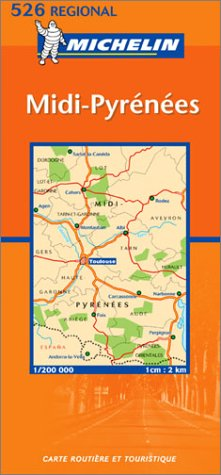 9782061008133: Michelin France, MIDI-Pyrenees Map No. 526