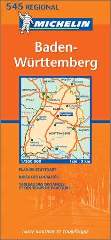 9782061008829: Michelin Germany Southwest - Baden-Wurttemberg Map No. 545