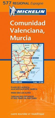 Comunidad, Valenciana, Murcia (Michelin Regional Maps): Varios-autores