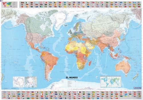 9782061009888 Michelin El Mundo Map Laminated 13703