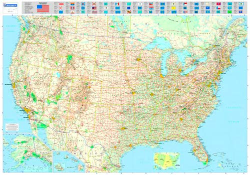 9782061009963: Michelin Map USA Road 13761 (Laminated, Rolled) (Maps/Wall (Michelin))