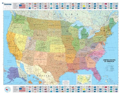 9782061011300: USA Political Wall Maps