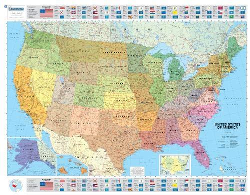 9782061011324: Michelin USA Political Map 1/3 850 000 -