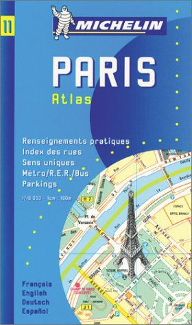 9782067000117: Michelin Paris Pocket Atlas Map No. 11 (Michelin Maps & Atlases)