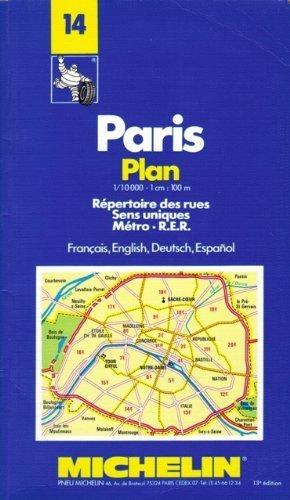 Paris Plan: Repertoire Des Rues Sens Uniques Metro R.E.R./Francais, English, Deutsch, Espanol ...