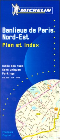 9782067000209: Michelin Paris Northeast Street Map with index Map No. 20 (Michelin Maps & Atlases)