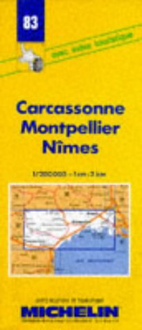 9782067000834: Michelin Carcassonne/Montpellier/Nimes, France Map No. 83 (Michelin Maps & Atlases)