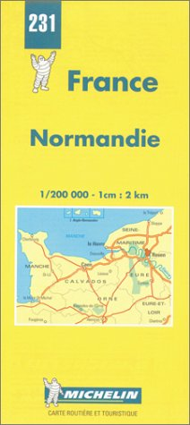 Michelin Normandie (Normandy), France Map No. 231: Michelin Travel Publications; Michelin, Pneu