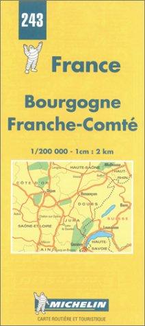 Michelin Map 243 France Bourgogne, Franche-Comte: Michelin Travel Publications
