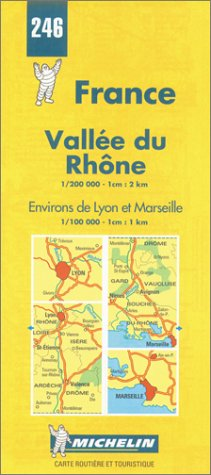 9782067002463: Michelin Vallee du Rhone (Rhone Valley), France Map No. 246