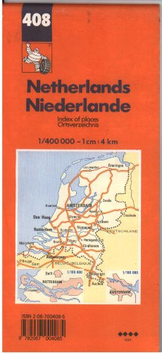 9782067004085: Michelin Country Map: Netherlands (Michelin Main Road Maps)