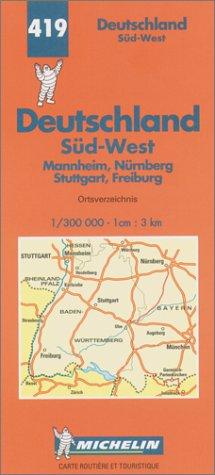 Carte routià re : Allemagne Sud-Ouest, N°: Cartes Michelin