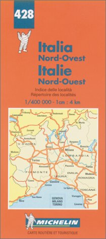 Map Of North West Italy.9782067004283 Michelin Italy North West Map No 428 Michelin Maps