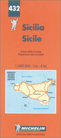 9782067004320: Michelin Sicily Map No. 432 (Michelin Maps & Atlases)