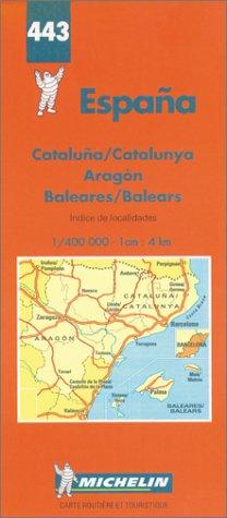 Carte Espagne Nord Est.9782067004436 Carte Routiere Espagne Nord Est Baleares N 443