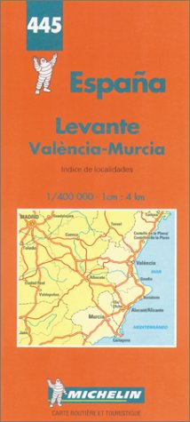 9782067004450: Michelin Spain Central/Eastern Map No. 445 (Michelin Maps & Atlases)