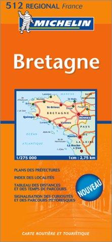 9782067105690: Carte routière : Bretagne