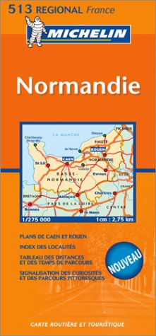 Carte routià re : Basse-Normandie, Haute-Normandie