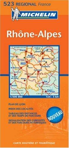 9782067106390: Rhône, Alpes 1:300.000 (Carte regionali)
