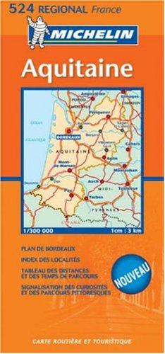 9782067106406: Aquitaine 2004 (Michelin Regional Maps)