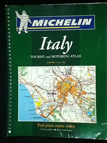 9782067106635: Michelin Italy Tourist and Motoring Atlas: Spiral Edition (Michelin Tourist and Motoring Atlas : Italy) (Italian Edition)