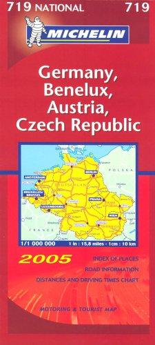 9782067111776: Germany, Austria, Benelux and Czech Republic 2005 (Michelin National Maps)