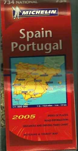 9782067112896: Spain and Portugal (Michelin National Maps)