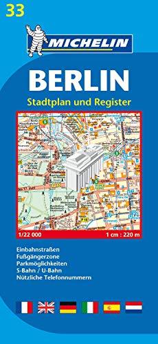 9782067116764: Michelin Map Berlin #33 (Maps/City (Michelin))