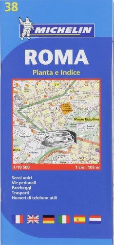 9782067117105: Michelin Map Roma #38 (Maps/City (Michelin)) (Italian Edition)