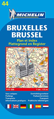 9782067117129: Michelin Map Brussels #44 (Maps/City (Michelin))