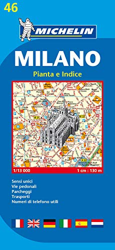 9782067117136: Michelin Map Milano #46 (Maps/City (Michelin)) (Italian Edition)