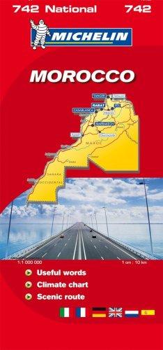 9782067118874: Map 0742 Morocco/Maroc (Michelin National Maps)