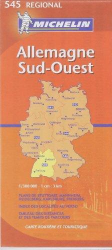 Michelin Germany Southwest: Baden-wurttemberg (Michelin Map): Michelin Travel Publications