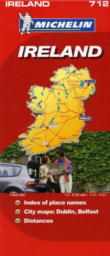 9782067122963: Michelin Map Ireland 712 (Maps/Country (Michelin))