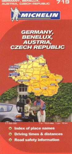 9782067123038: Michelin Map Germany Austria Benelux Czech Republic 719 (Maps/Country (Michelin))