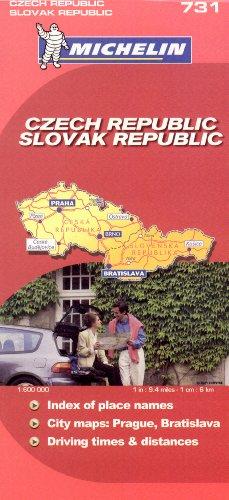 9782067123076: Michelin Map Czech & Slovak Republic 731 (Maps/Country (Michelin))