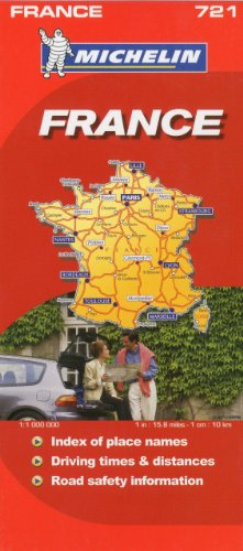 9782067123151: Michelin Map France 721 (Maps/Country (Michelin))