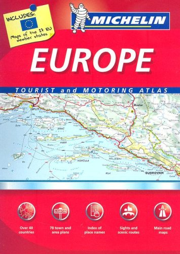 9782067124196: Michelin Europe Tourist and Motoring Atlas (Michelin Tourist and Motoring Atlas) (Multilingual Edition)