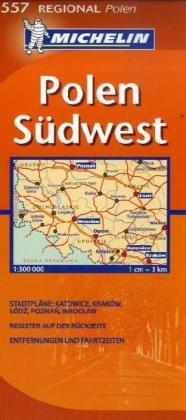 9782067126183: Michelin Regionalkarte Polen Süd-West 1 : 300 000