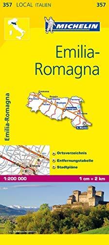 9782067126237: Michelin Lokalkarte Emilia Romagna 1 : 200 000: Ortsverzeichnis, Entfernungstabelle, Stadtpläne
