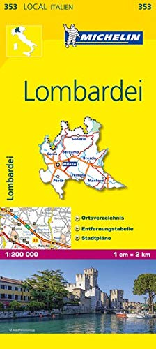 9782067126527: Michelin Lokalkarte Lombardei 1 : 200 000