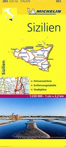 9782067126572: Michelin Lokalkarte Sizilien 1 : 220 000: Ortsverzeichnis, Entfernungstabelle, Stadtpläne