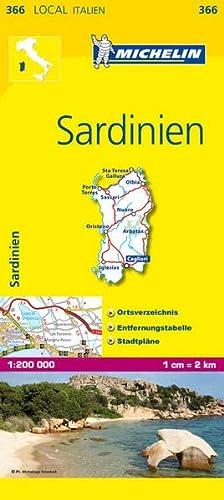 9782067126589: Michelin Lokalkarte Sardinien 1 : 200 000: Ortsverzeichnis, Entfernungstabelle, Stadtpläne