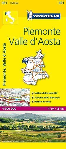 9782067126596: Michelin Map Italy: Piemonte, Valle D'Aosta 351 (Maps/Local (Michelin)) (Italian Edition)